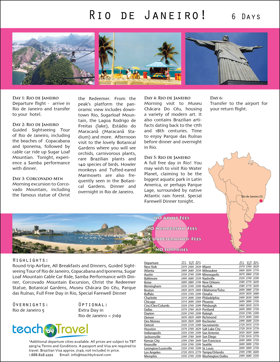 Teach By Travel - Rio de Janeiro